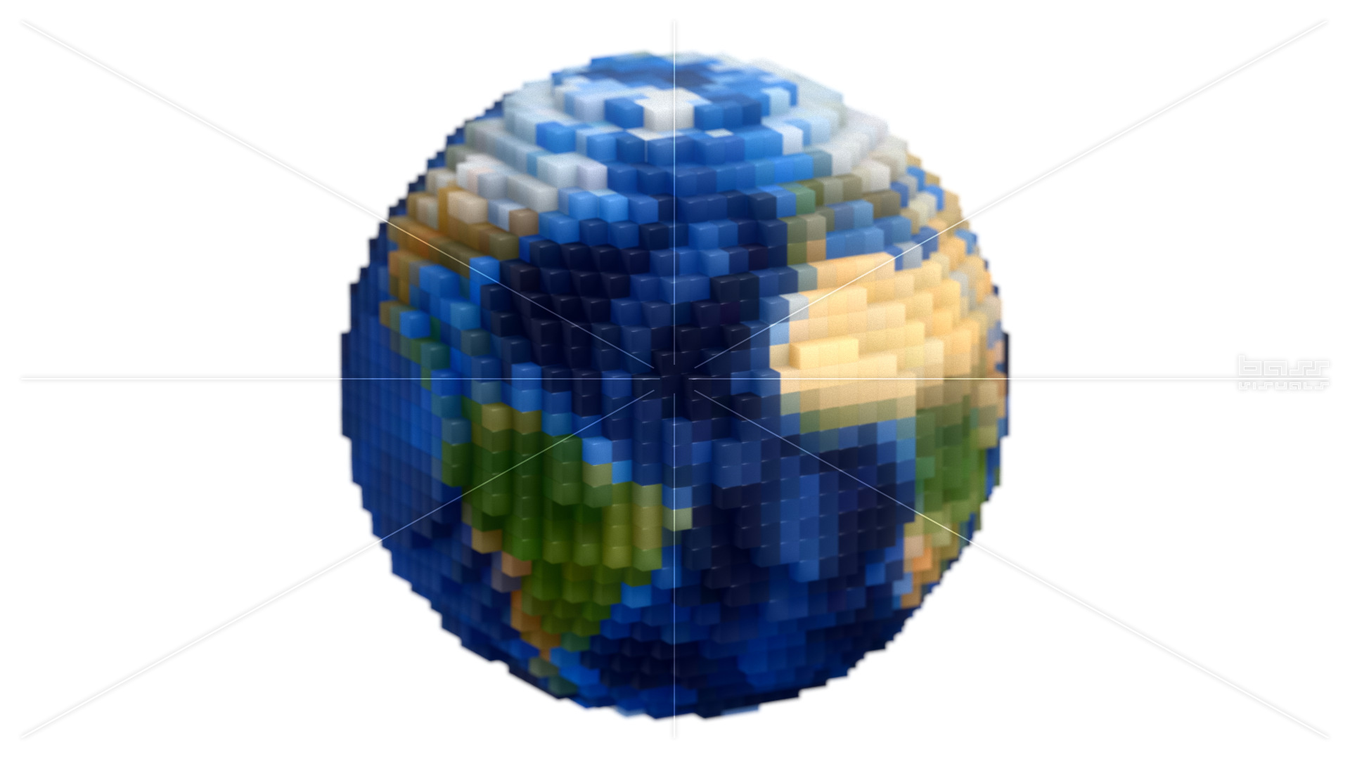 Voxel Planet Earth Globe Spin Loop Versions Bass Visuals